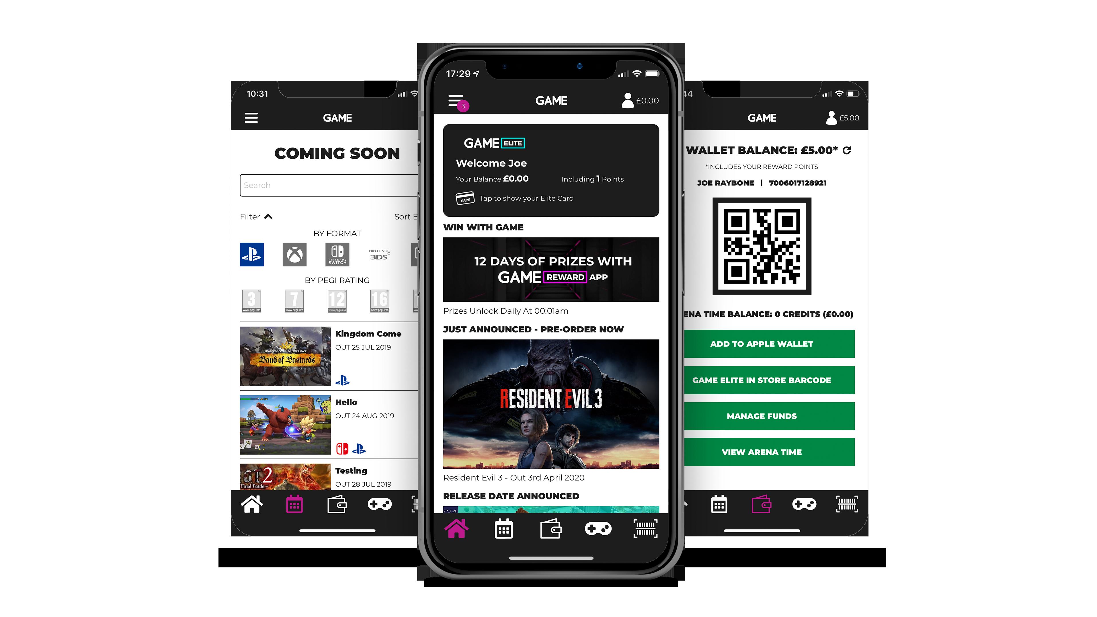 GAME Reward App